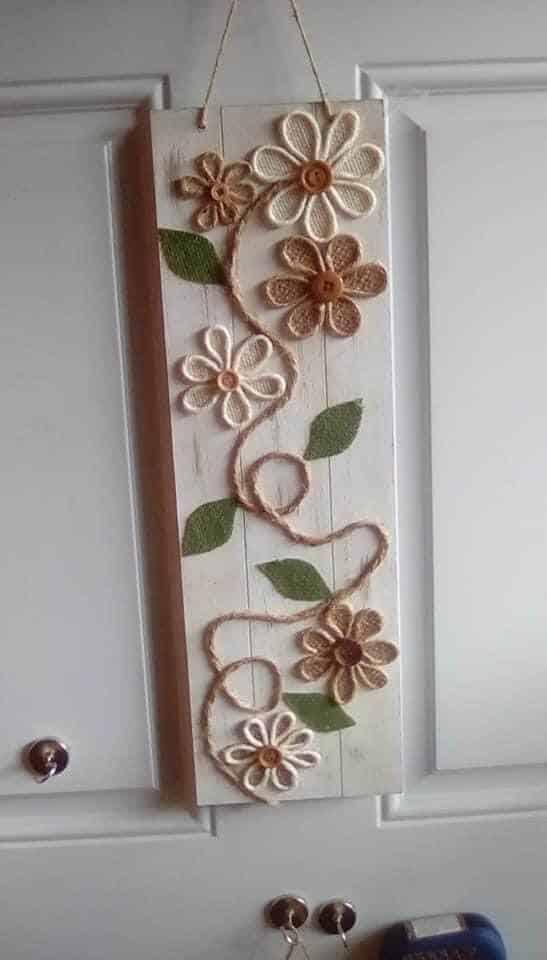 Burlap Floral Banner Lisa Oster