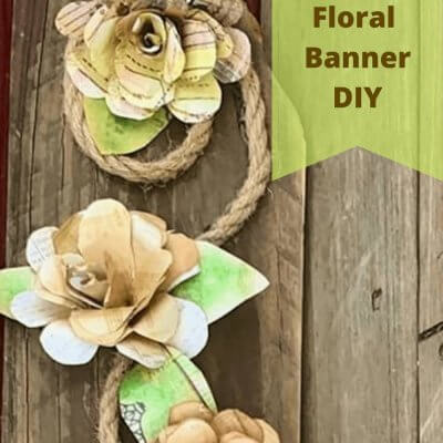 DIY Floral Banner with Scrapbook Paper