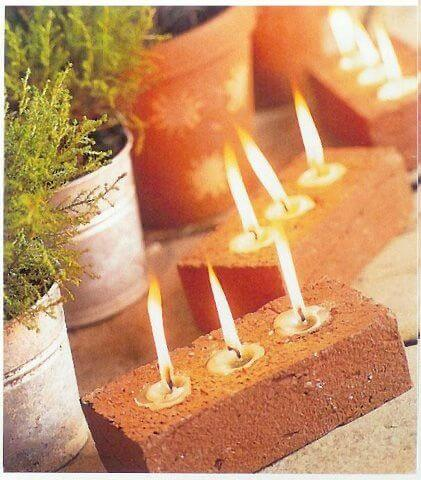 Recycled Brick for Candle