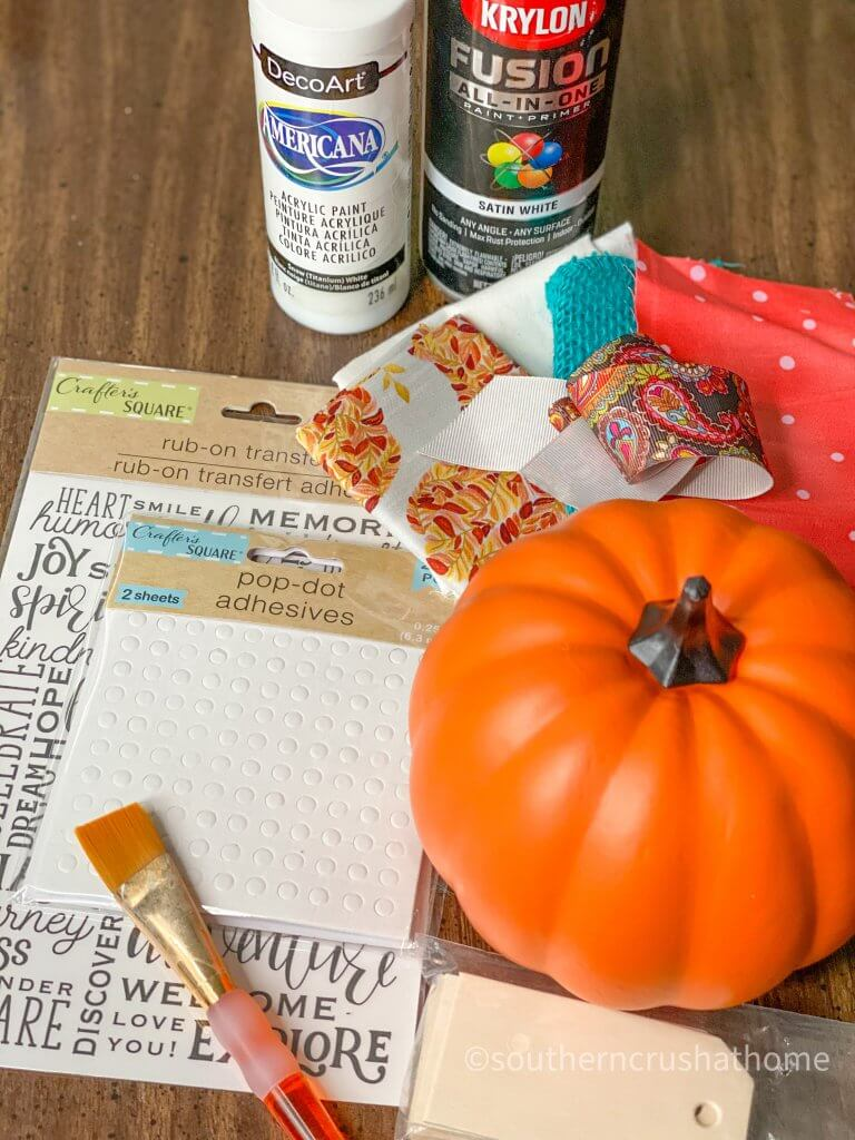 DIY MILK GLASS PUMPKIN supplies