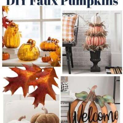 My Favorite Faux DIY Pumpkins for 2020 + Printable