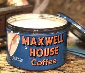 Maxwell House Coffee Tin Vintage Candle Repour