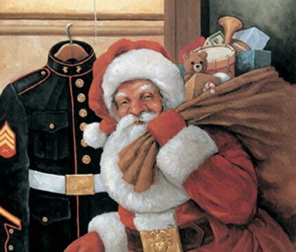 Toys for Tots Santa plus marine uniform