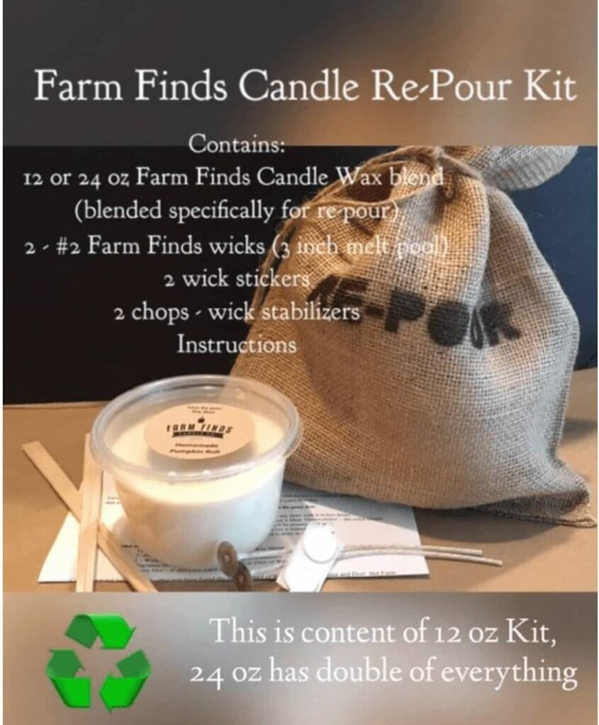 Farm Finds Candles Candle Repour Kit