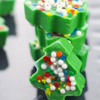 3 Ingredient Christmas Tree Fudge
