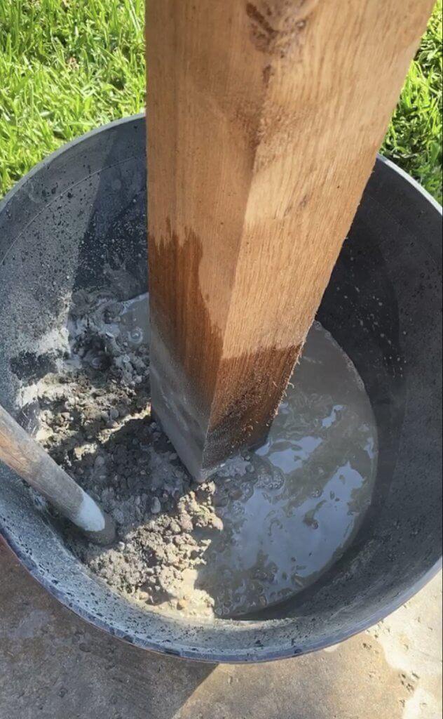 Concrete for patio lighting