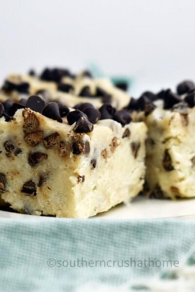 cookie dough fudge squares