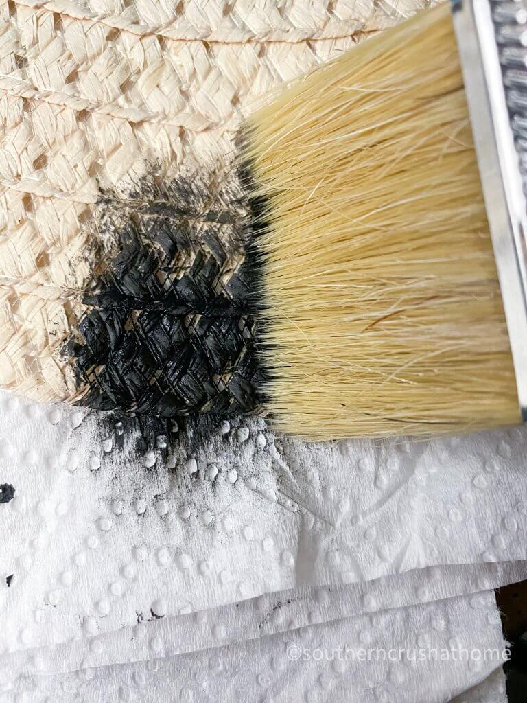 Halloween Witch Hat DIY Black Paint