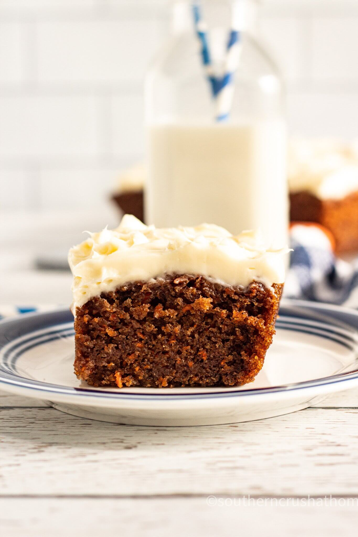 Easy Pumpkin Spice Cake for Thanksgiving with milk