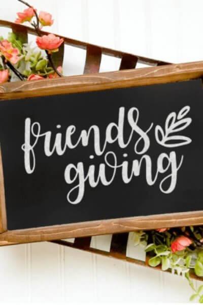 Friendsgiving chalkboard image