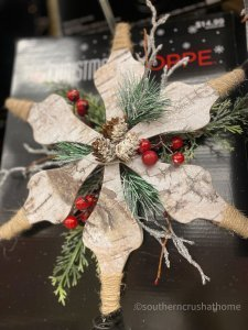 Hobby Lobby Christmas Decor Tour rustic topper