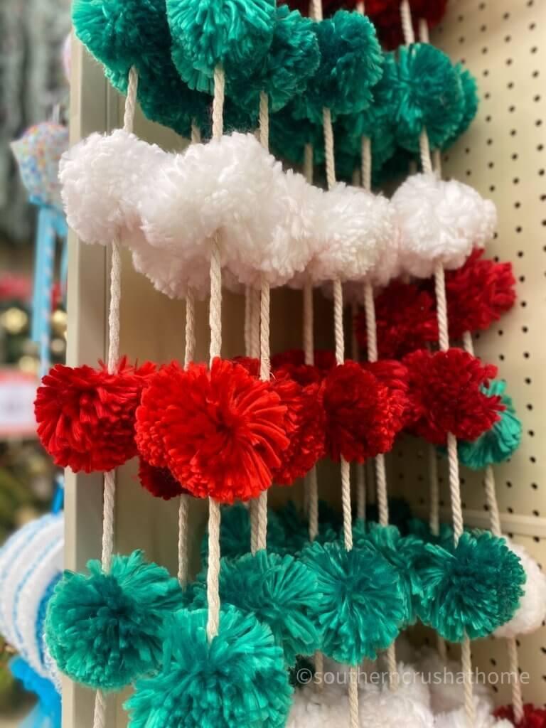 Hobby Lobby Christmas Decor Tour pom pom garland