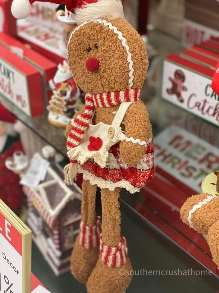 Hobby Lobby Christmas Decor Tour gingerbread girl