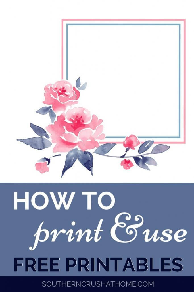 How to print & use FREE Printables