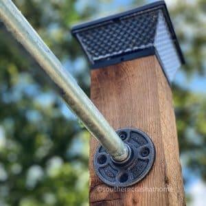 outdoor patio lighting & privacy diy pole installation
