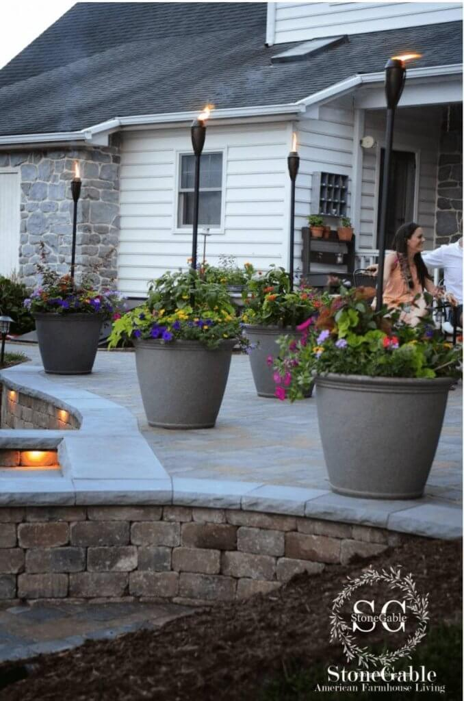 outdoor tikki torches patio lighting