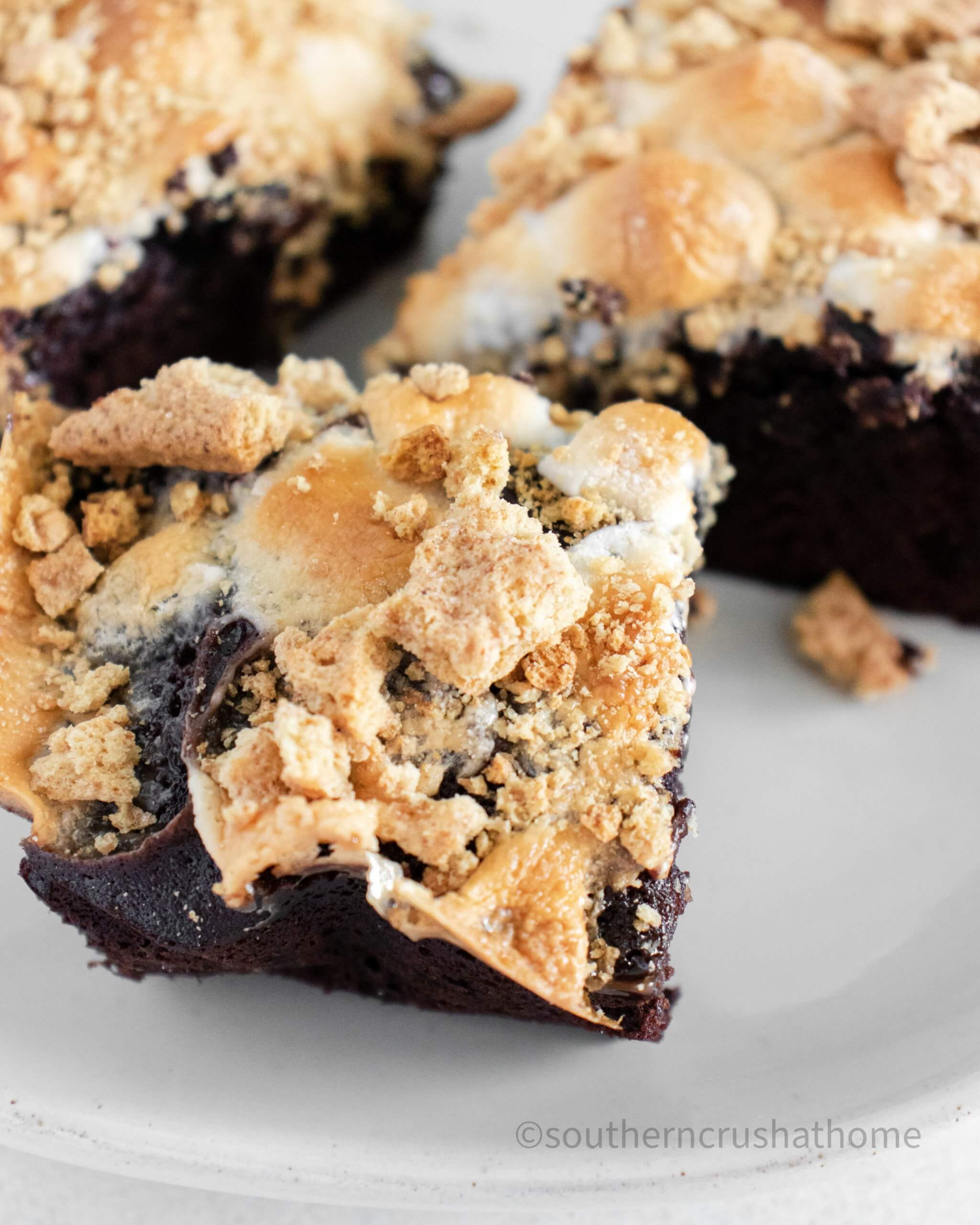 smores brownies styled