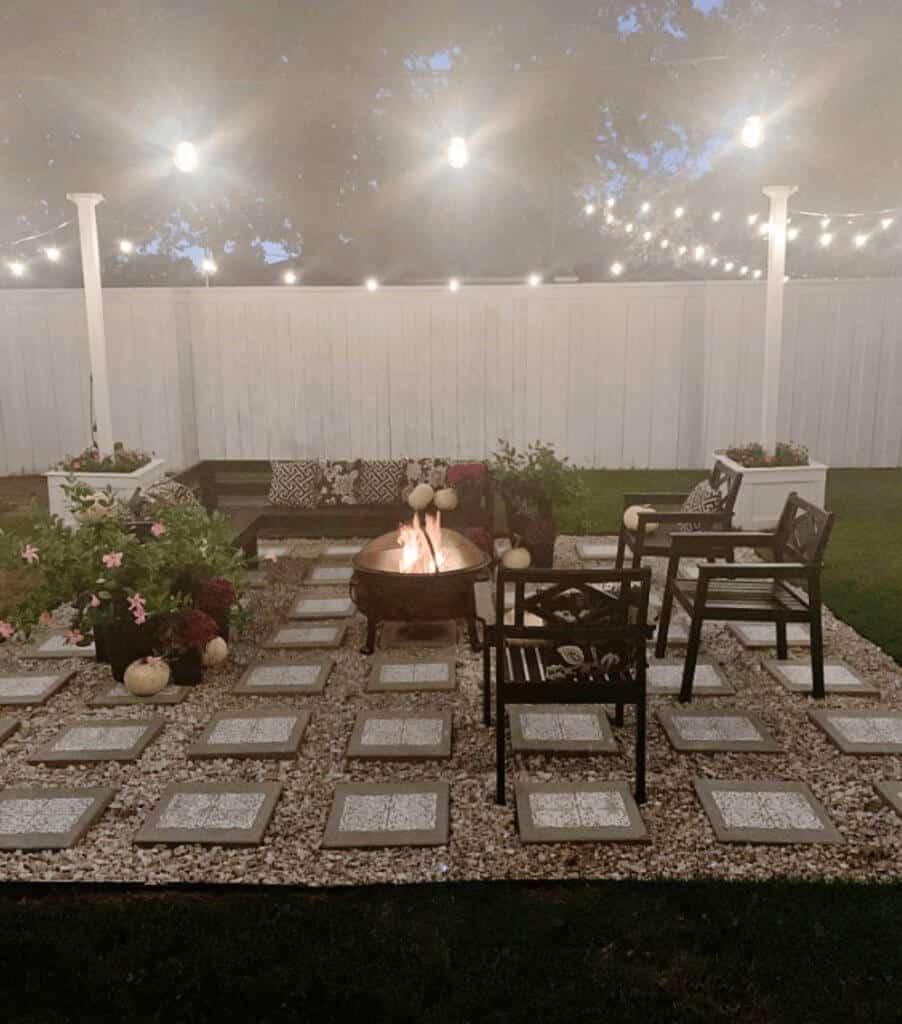 Thistlewood backyard patio lighting