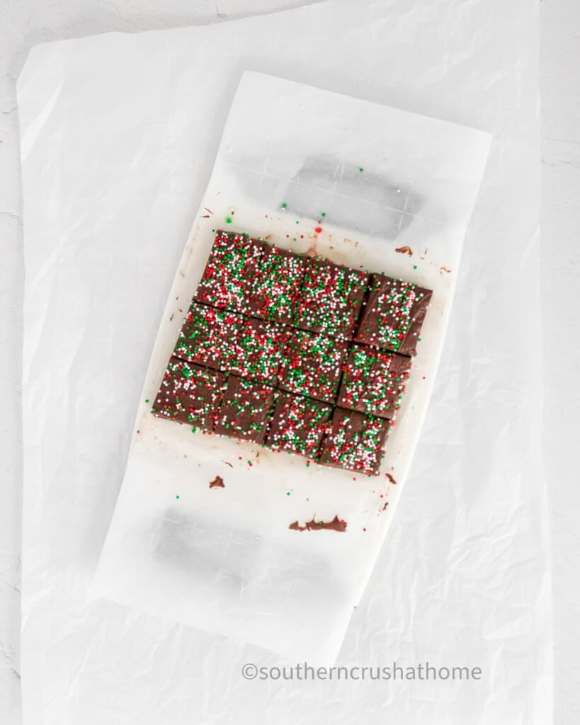 cooling christmas fudge