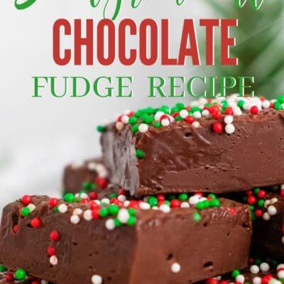 3 Ingredient Chocolate Fudge for Christmas
