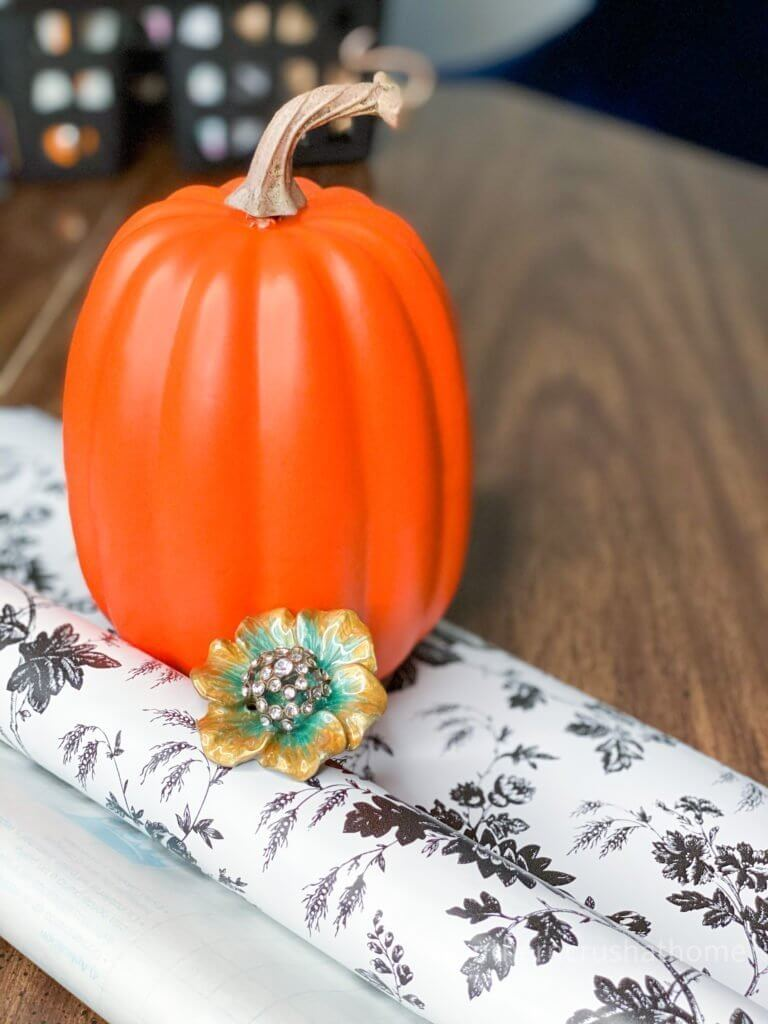 black and white floral pumpkin supplies