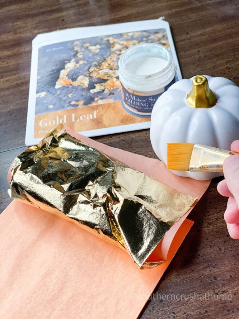 Mini Pumpkin with gold leaf application
