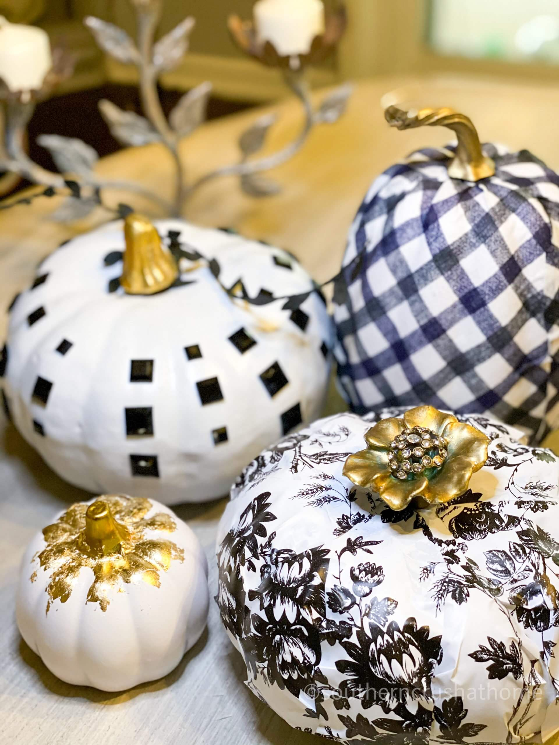 4 Easy Dollar Tree Black and White Pumpkin Ideas grouped final