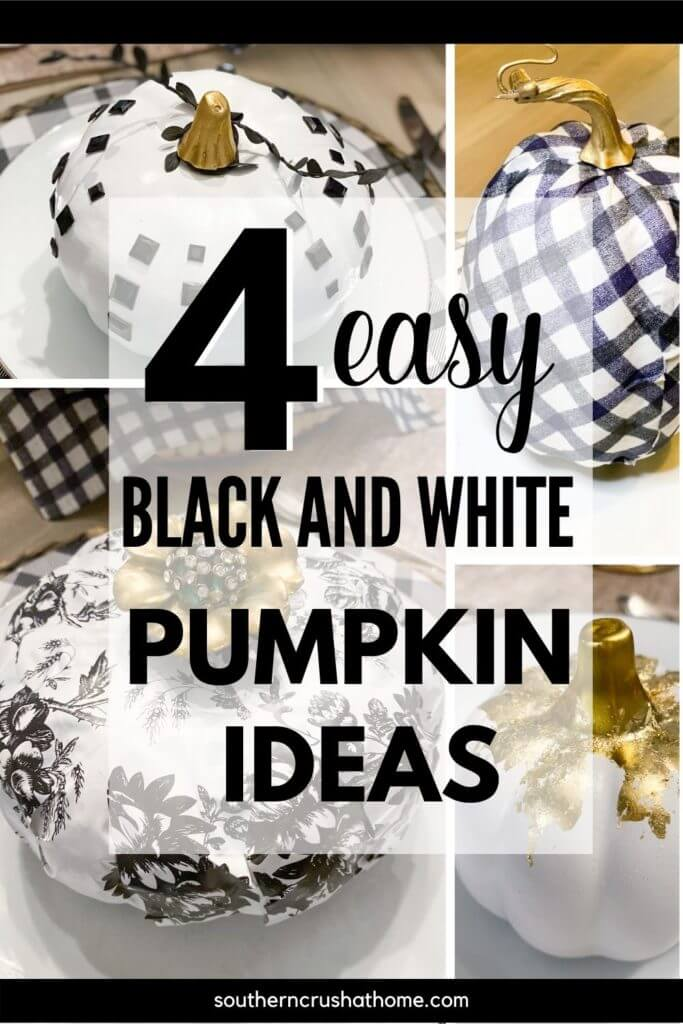 Black and white pumpkin ideas PIN