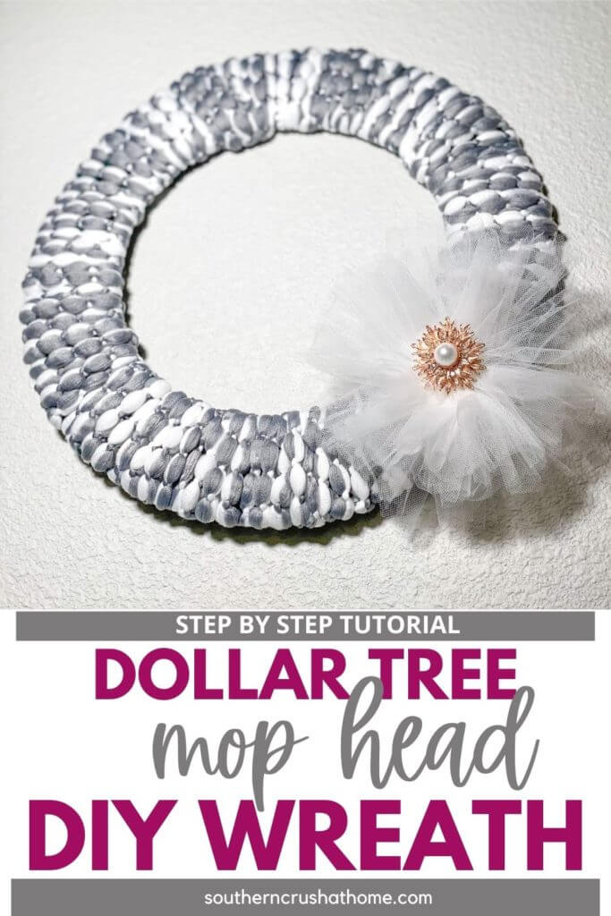 Dollar Tree Mop Head Wreath PIN