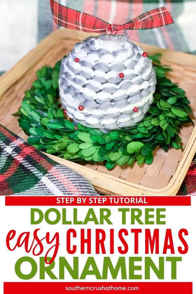 Easy Christmas ornament pin