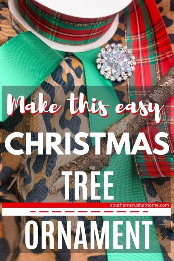 fabric Christmas tree ornament PIN