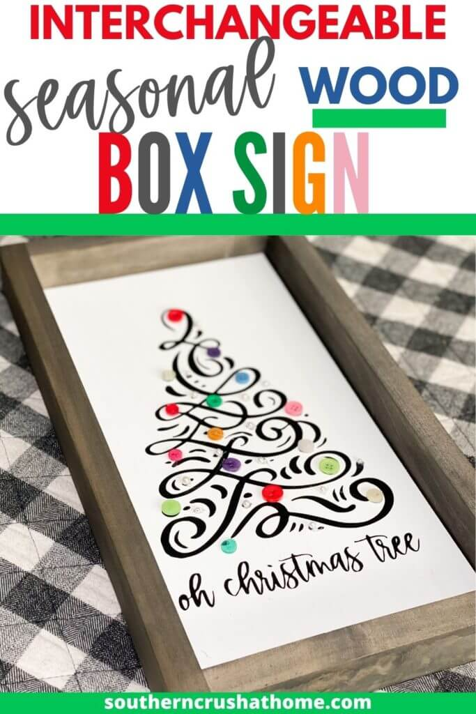PIN image for interchangeable seasonal wood box sign