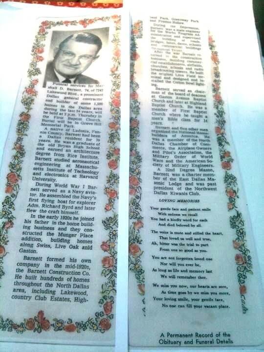 Marshall David Barnett's Obituary