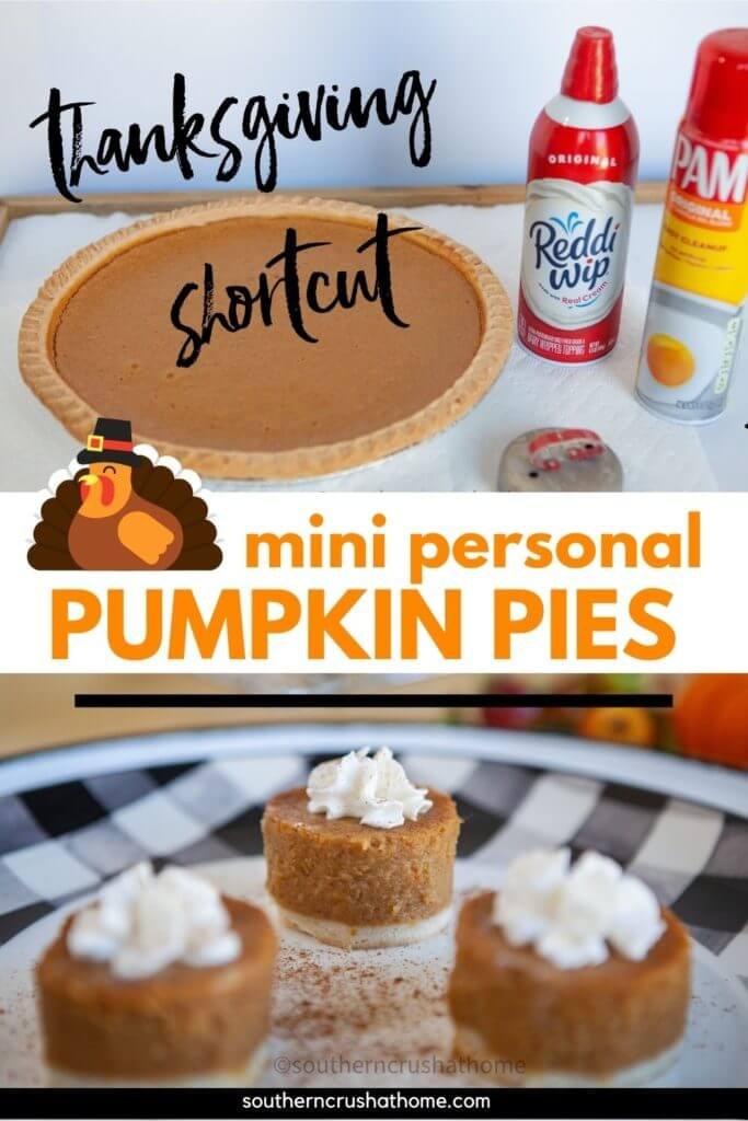 mini personal pumpkin pies PIN