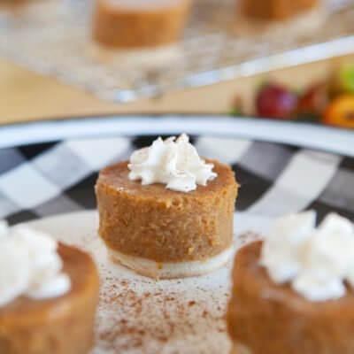Mini Personal Pumpkin Pies (a Shortcut for Thanksgiving)