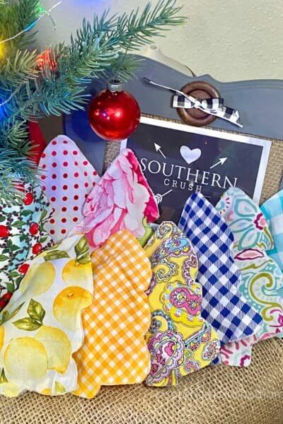 No sew Fabric Christmas Tree