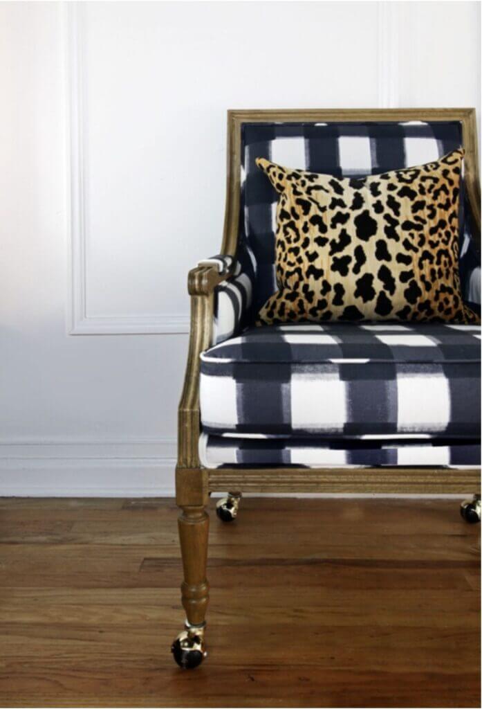 buffalo check upholstered chair