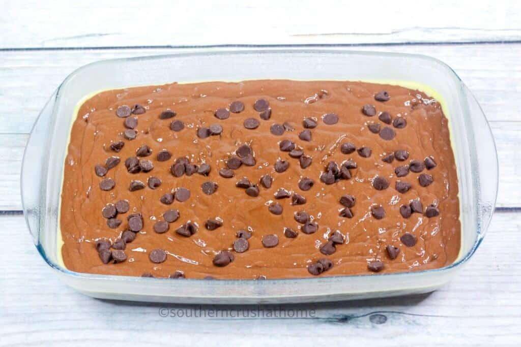 mix chocolate sheet cake