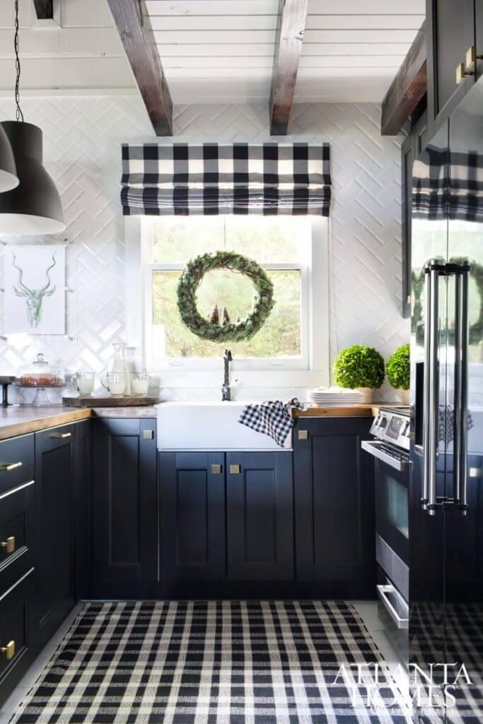 Black and White Buffalo Check Kitchen Decor