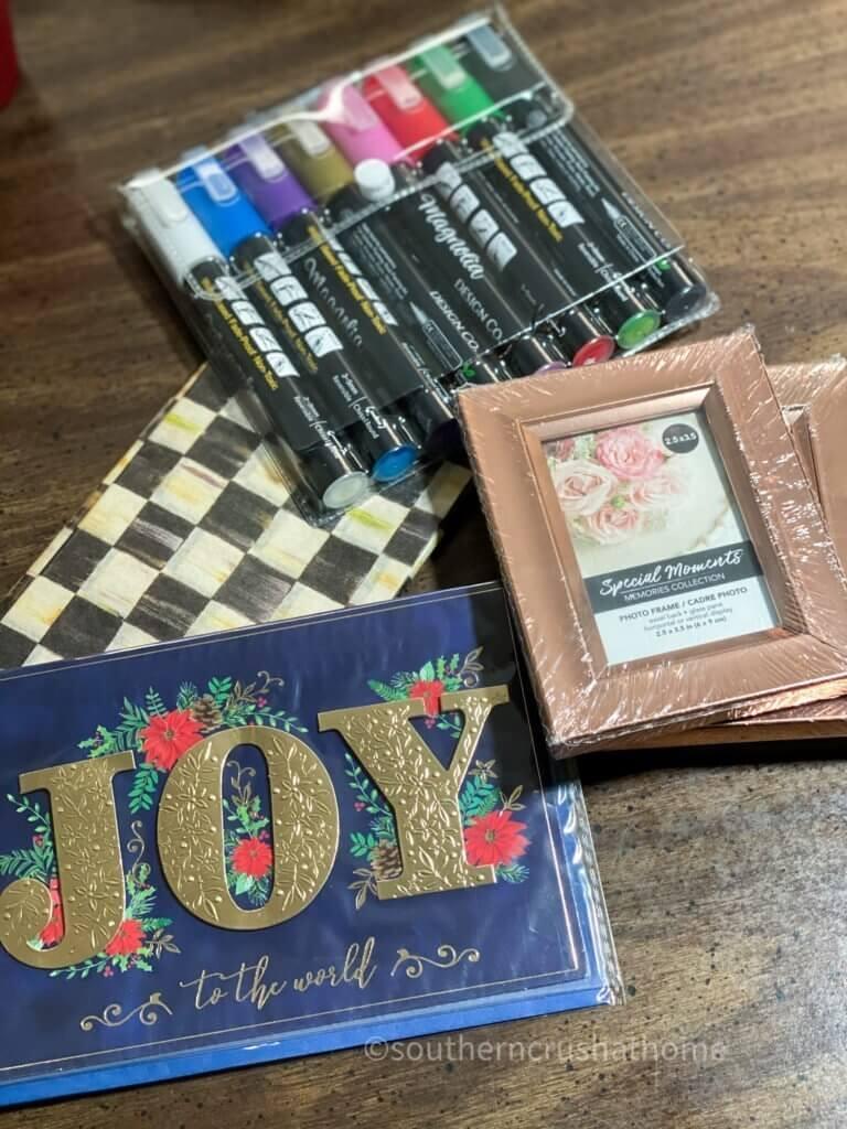 Christmas Card DIY Supplies