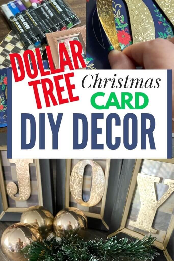 Dollar Tree Christmas Card DIY PIN