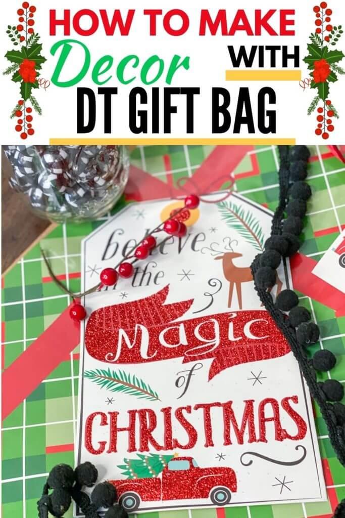 dollar tree christmas gift bag decor tag PIN