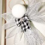 deco mesh christmas angel hanging