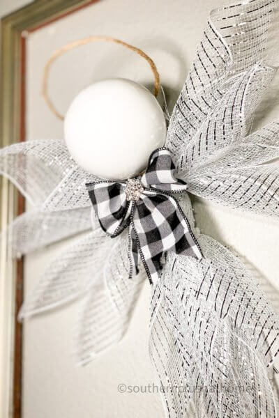 deco mesh christmas angel hanging