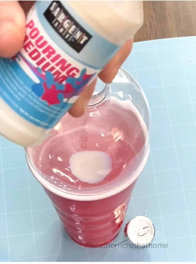 using the pouring medium