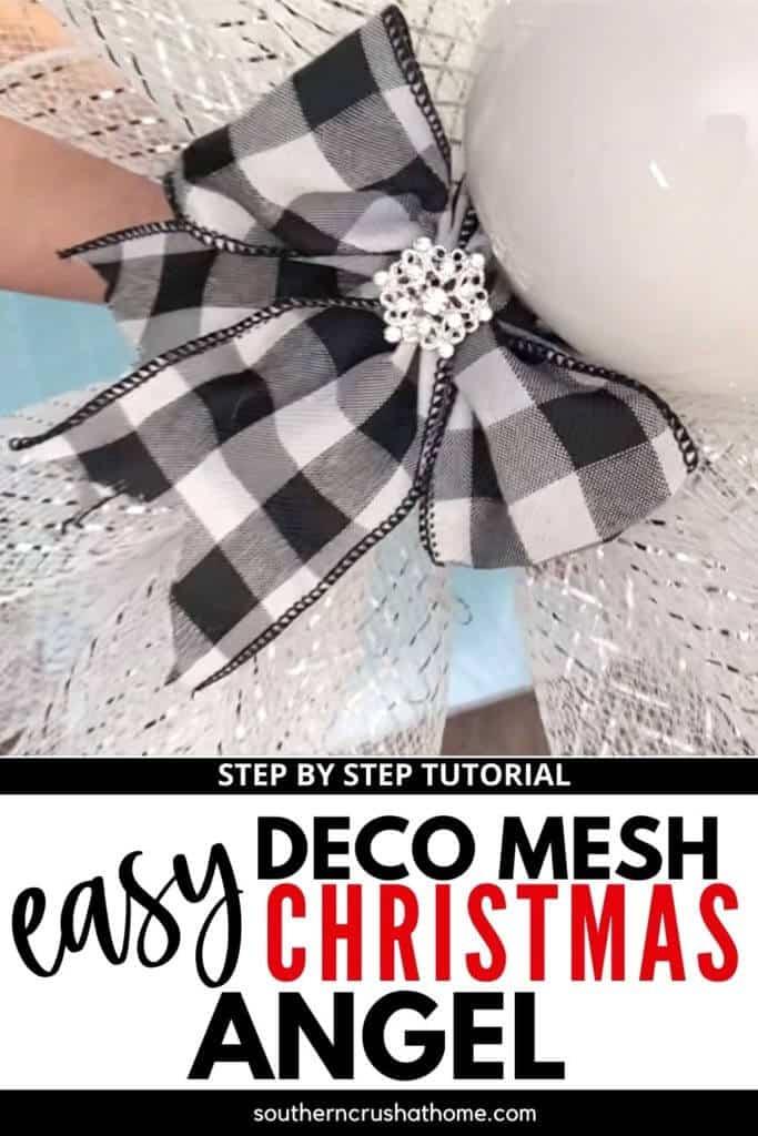 Deco Mesh Christmas Angel PIN
