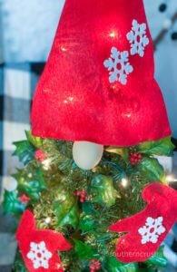 GNOME DIY Christmas Tree face
