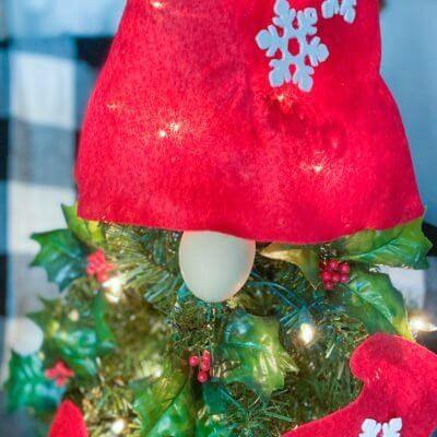 Gnome DIY Christmas Tree + FREE Pattern
