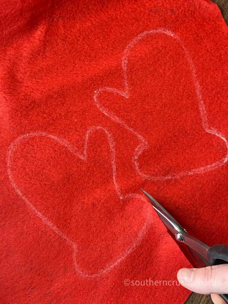 cutting christmas mitten pattern