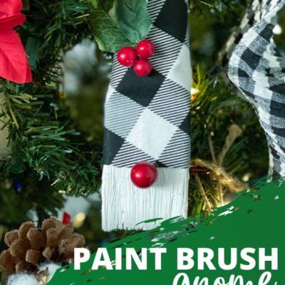 Paint Brush Gnome Ornaments